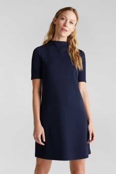 ESPRIT Women Casual A-lijn jurk met textuur donkerblauw