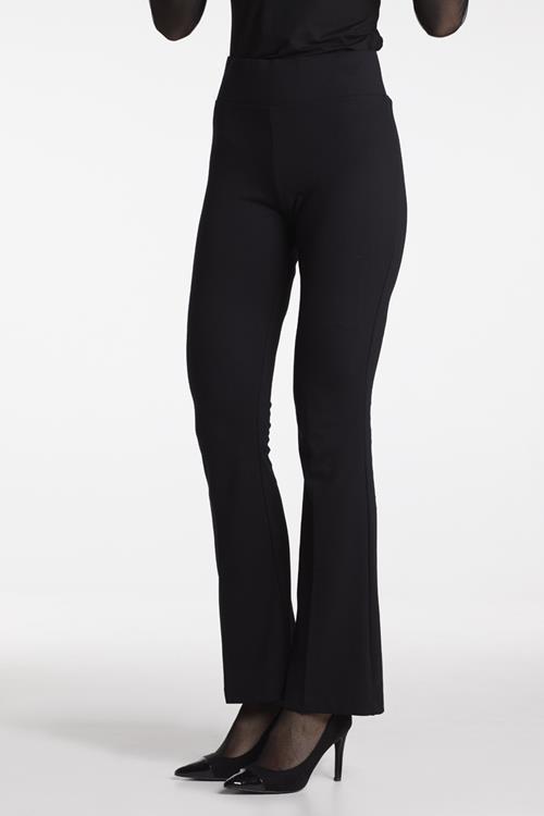 Juffrouw jansen Bootcut-pantalon met elastische tailleband