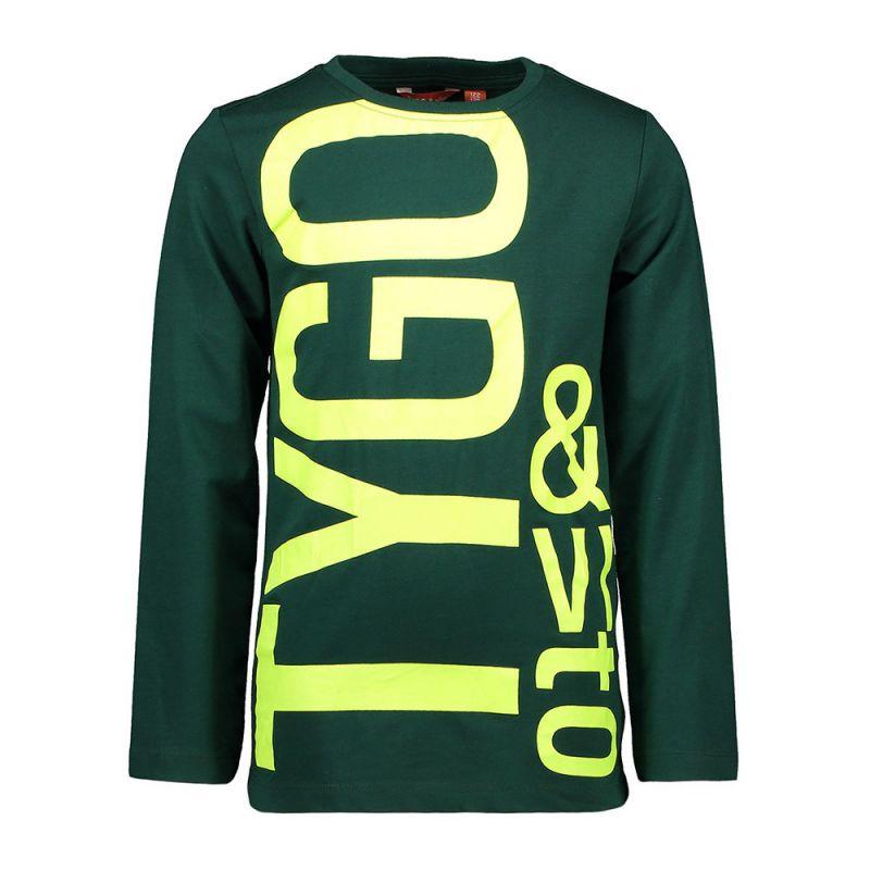 Tygo & Vito longsleeve logo (forrest green / Black)