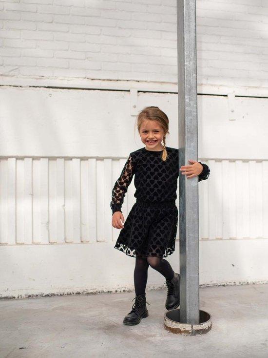 Quapi meisjes jurk Dente met hartjes zwart