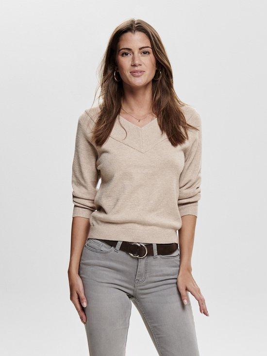 Jacqueline de Yong dames trui (beige)