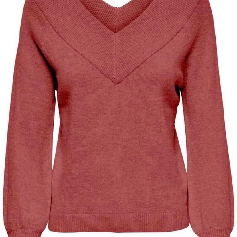 Jacqueline de Yong dames trui (rood/roze)